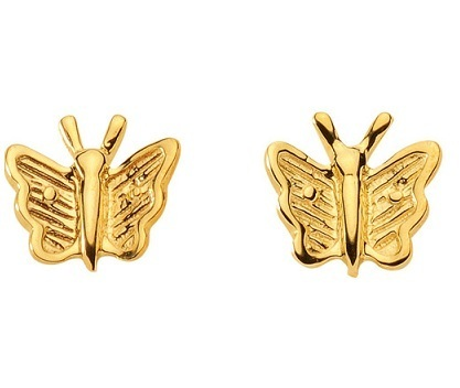 333 Gold Ohrstecker Schmetterling