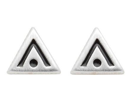 925 Silber Ohrstecker Dreieck