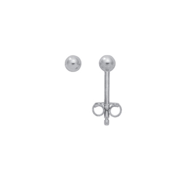 925 Silber  Ohrstecker Kugel 4 mm Durchmesser