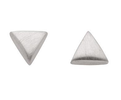 925 Silber Ohrstecker Dreieck matt