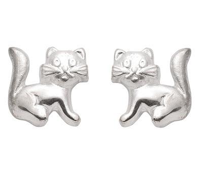 925 Silber Ohrstecker Katze