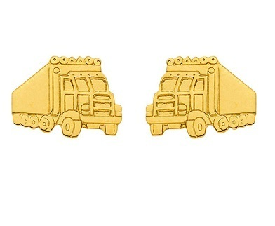 333 Gold Ohrstecker Truck