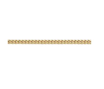585 Gelbgold Flachpanzer Colierkette 1,4 mm stark 50 cm lang