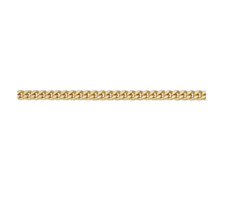 Goldkette 2,4mm breit Panzermuster