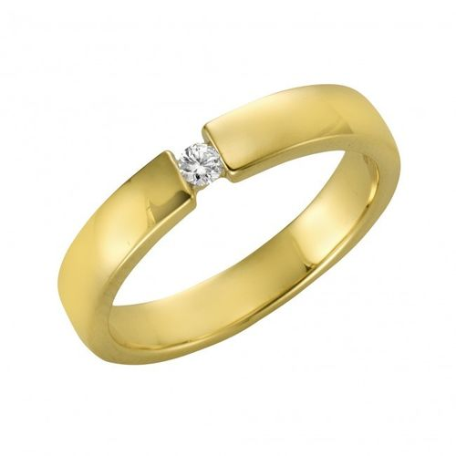 375 Gold Brillantring 0,05 ct P1