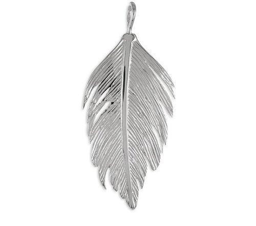 Großeer 925 Silber Kettenanhänger  Feder