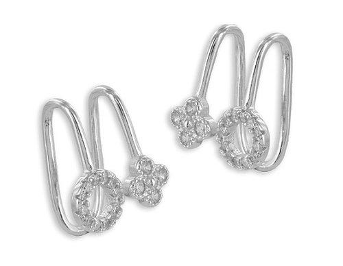 925 Silber  Ear Cuffs mit 32 Zirkonia