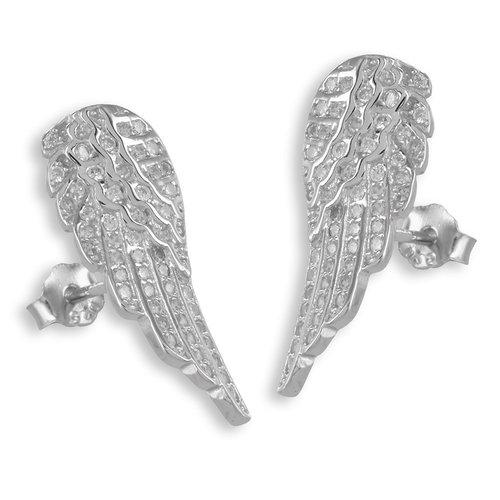 925 Silber Flügel Ohrstecker