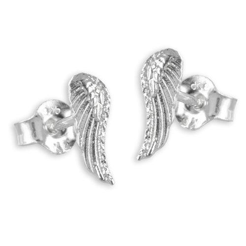 925 Silber kleine Flügel Ohrstecker