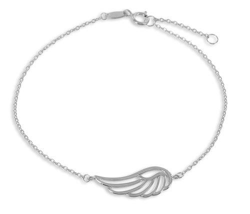 "925 Silberarmband "" Feder "" 17/19cm"