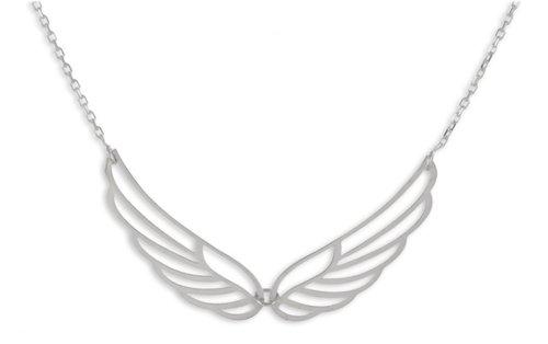 925 Silber Kette Flügel  Anhänger