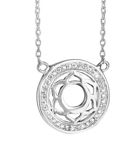 925 Silber Kette mit Zirkonia Anhänger