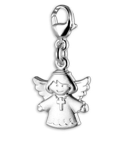 925 Silber Charms Einhänger Engel mit Kreuz