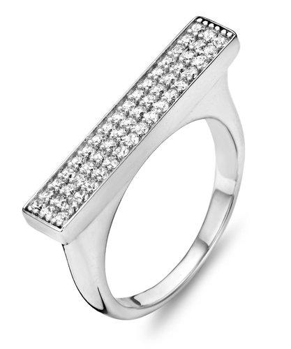 925 Silber Design Ring mit Zirkonia