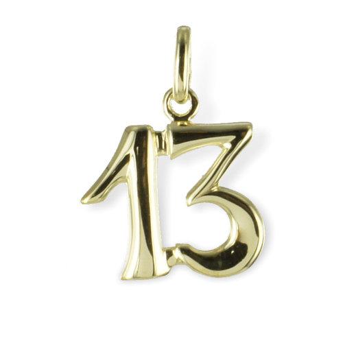 """333 Gold """" 13 """" Kettenanhänger"""