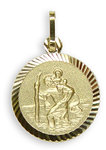333 Gold Christophorus Anhänger