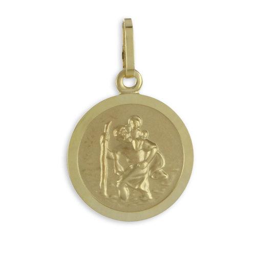 333 Gold kleiner Christophorus Anhänger