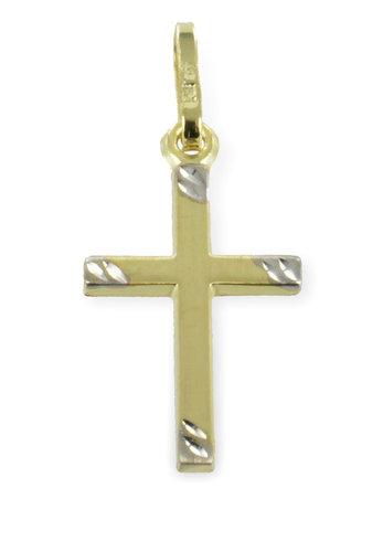 333 Gold Kreuzanhänger 22 mm lang