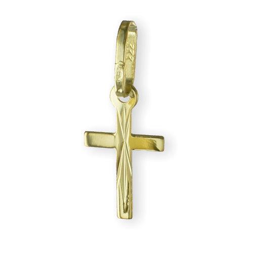 333 Gold Kreuzanhänger 16 mm lang