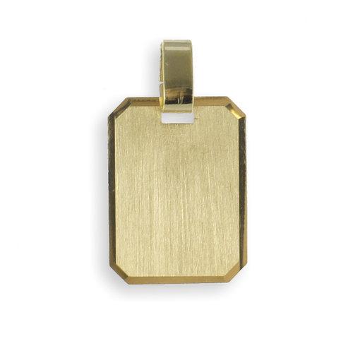 333 Gold Gravurplatte Kettenanhänger 12 x 16 mm