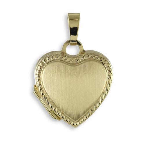 333 Gold klassisches Herz Medaillon