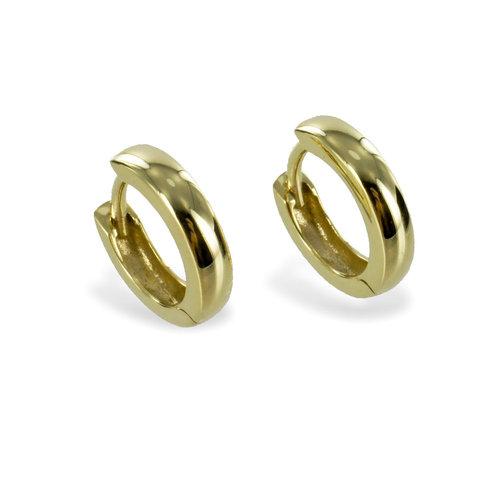 333 Gold Creole Durchmesser 12 mm 3 mm breit