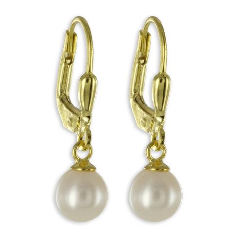 333 Gold Perlen Ohrhänger