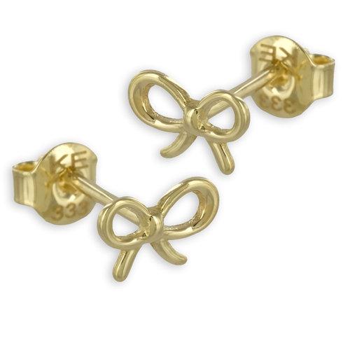 Schleifen Ohrstecker 333 Gold