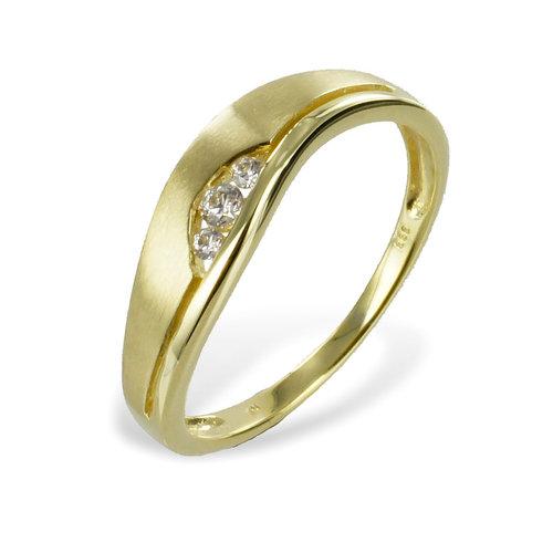 333 Ring Gelbgold mit Zirkonia