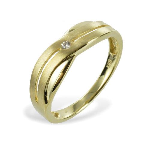 333 Ring mit Zirkonia besetzt
