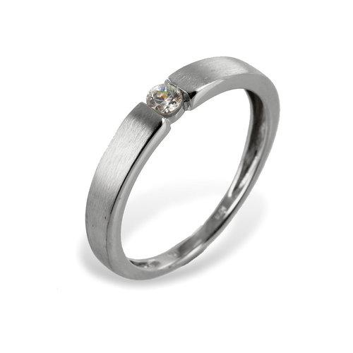 333 Weißgold Ring mit Zirkonia besetzt