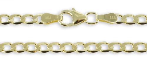 Goldkette Flachpanzer 333 Gelbgold 3,1 mm
