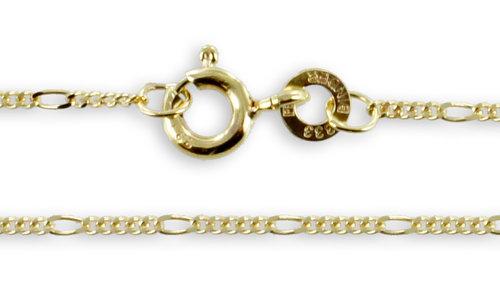Goldkette Figarokette 333 Gelbgold 1,1 mm
