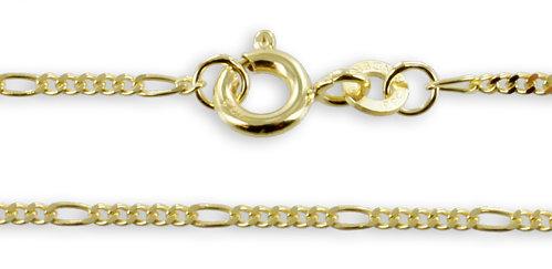 Goldkette Figarokette Gelbgold 1,5 mm