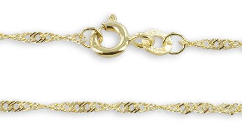Schmuckkette in 333 Gold Singapur Design 1,4 mm