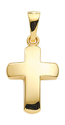 Gold Kreuz in 10,7x13,5 mm Größe