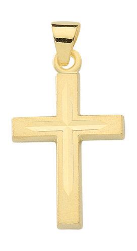 333 Gold Kreuzanhänger 16,3mm lang mit Schliff