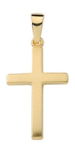 Schlichter und einfacher Kreuzanhänger in Gold