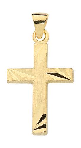 585 Gold Kreuz Anhänger 19,9 mm Länge