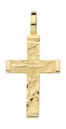 Kreuz Kettenanhänger Gold 19,5 mm groß