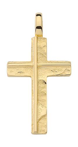 Hochwertiger Kreuzanhänger in 585 Gold