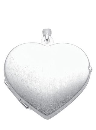 925 Silber Medaillon Herz
