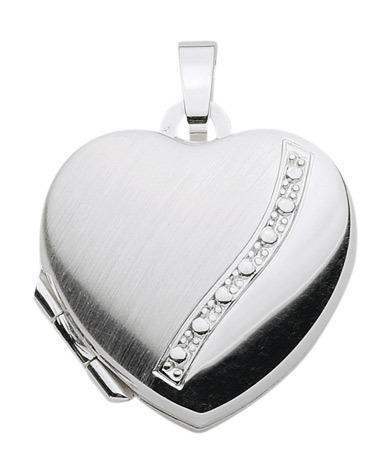 925 Silber Medallion Herz