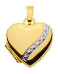 333 Gold Medaillon Herz