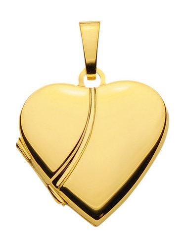 Gold Herz Medallion poliert 20,7x19,9 mm