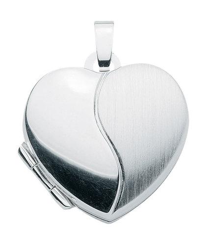 925 Silber Medallion Herz matt/glänzend