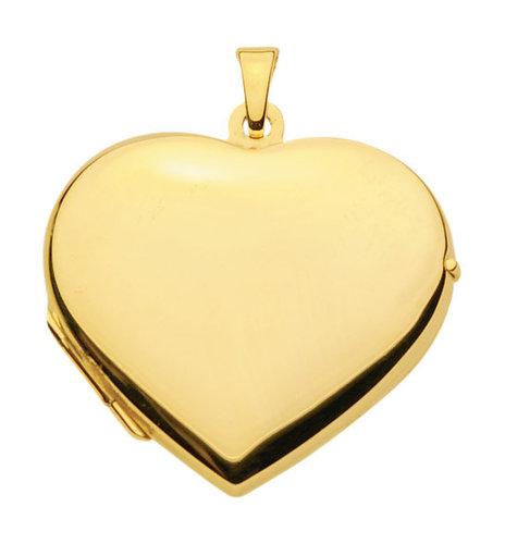Großes 333 Gold Herz Medallion