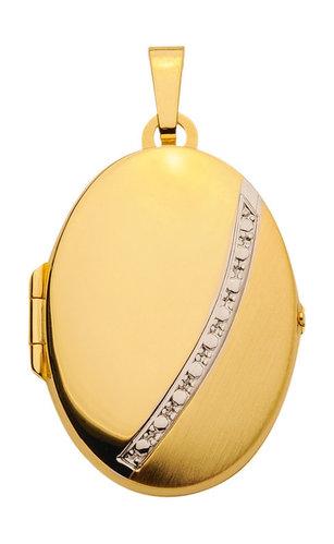 Gold Medaillon matt/glänzendes Design 2,8 cm hoch