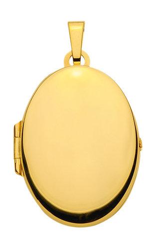 Großes glänzendes ovales Medaillon echt Gold