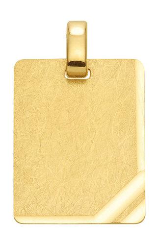 333 Gold Gravurplatte Kettenanhänger 13,6x17,1mm